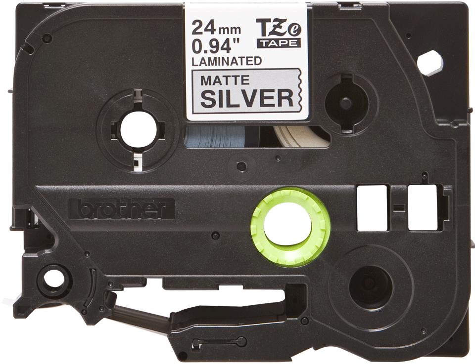 Original Brother TZe-M951 tape – sort på mat sølv, 24 mm bred 2