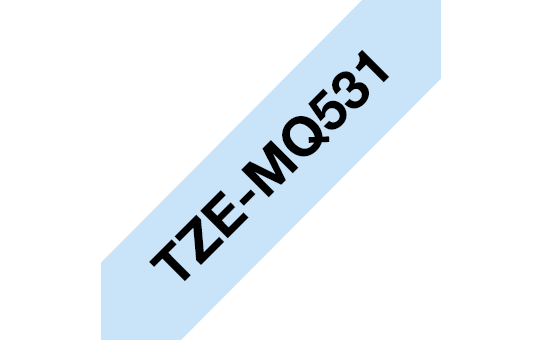 Original Brother TZe-MQ531 tape – sort på pastelblå, 12 mm bred