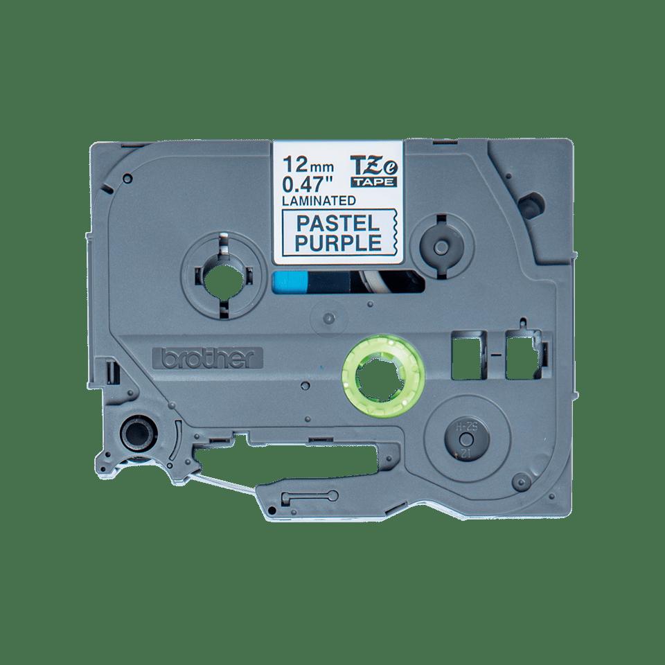 Original Brother TZeMQF31 tape – sort på pastellilla, 12 mm bred 2