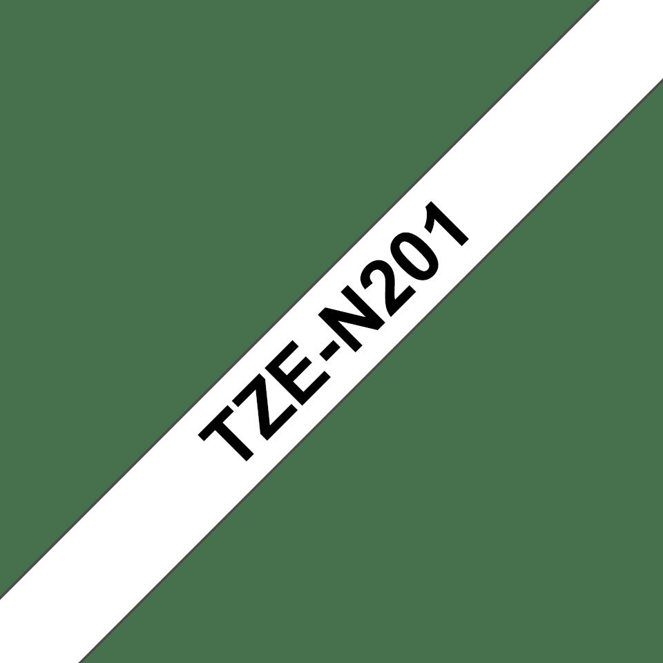 Original Brother TZeN201 tape – sort på hvid, 3,5 mm bred 3