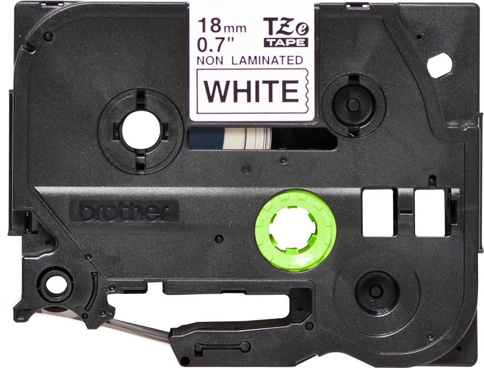 Original Brother TZeN241 tape – sort på hvid, 18 mm bred