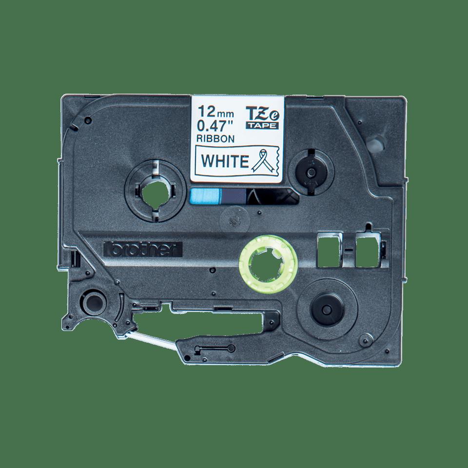 Original Brother TZe-R231 satinbånd – sort på hvid, 12 mm bred 5