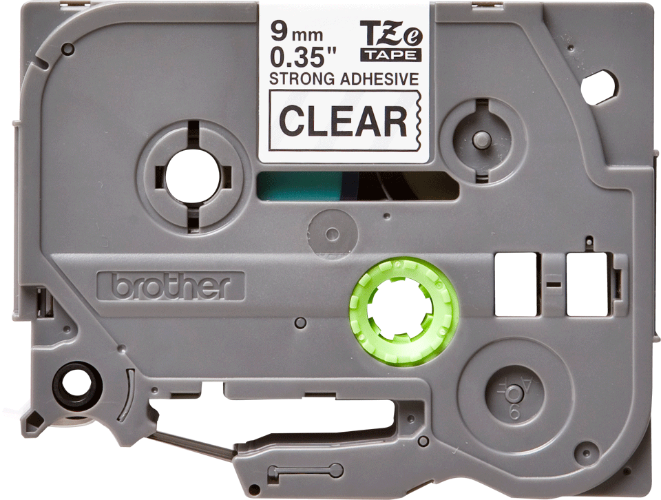 Original Brother TZeS121 tape – sort på klar, 9 mm bred 2