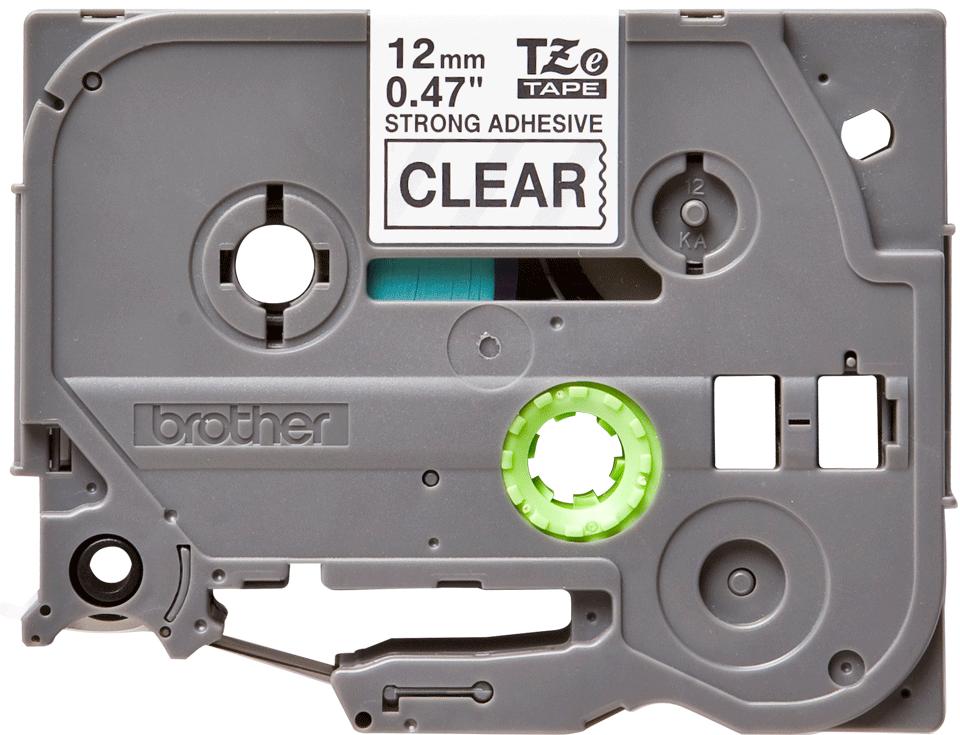 Original Brother TZeS131 tape – sort på klar, 12 mm bred 2