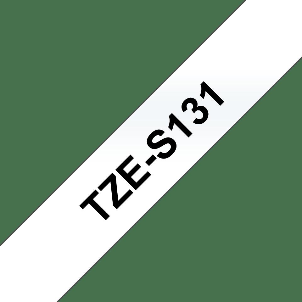Original Brother TZeS131 tape – sort på klar, 12 mm bred