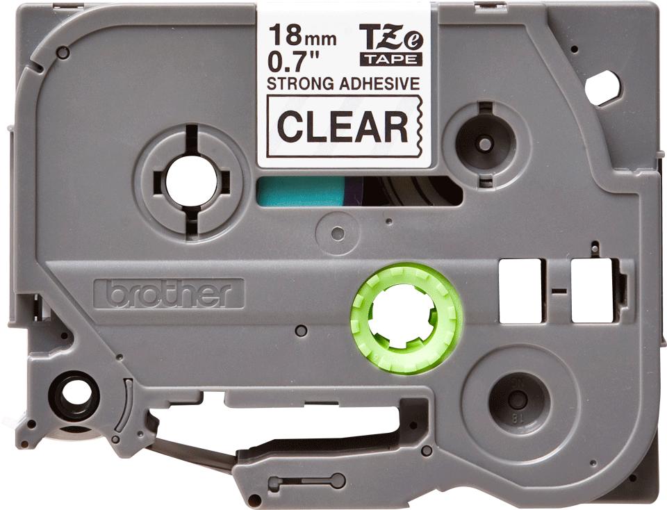 Original Brother TZeS141 tape – sort på klar, 18 mm bred