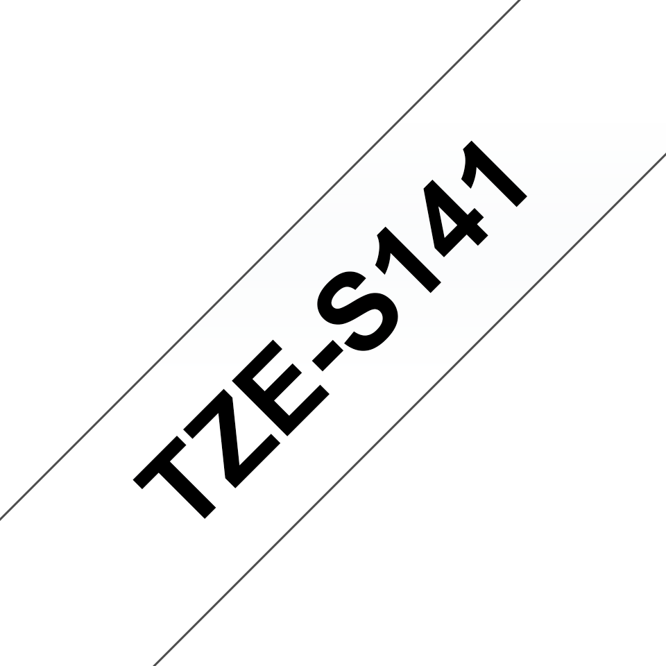 Original Brother TZeS141 tape – sort på klar, 18 mm bred 3