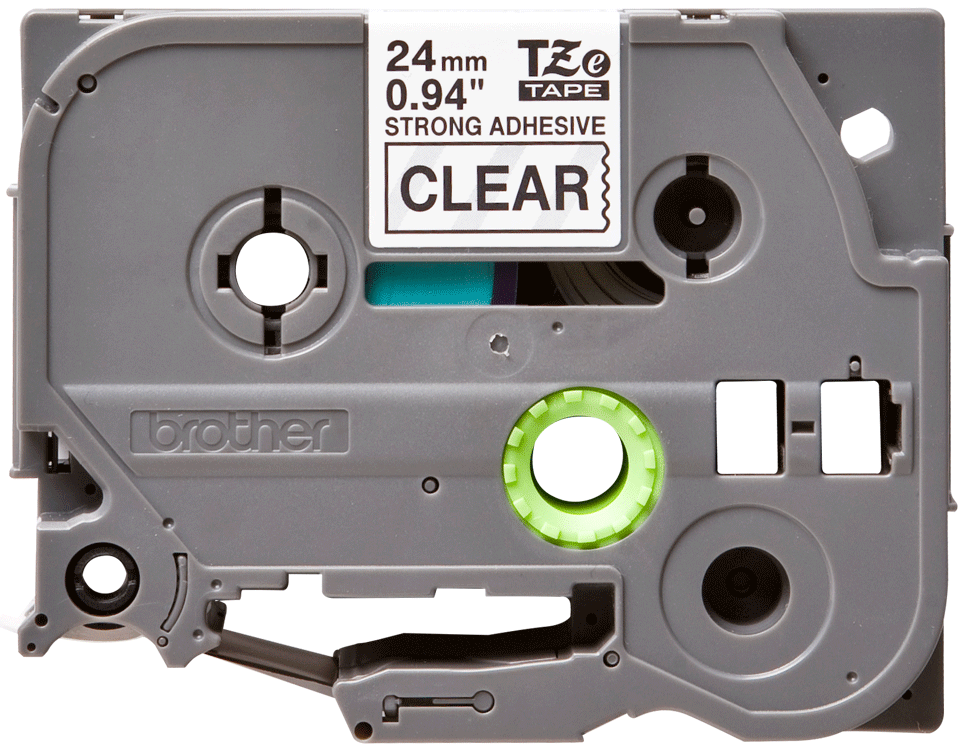 Original Brother TZeS151 tape – sort på klar, 24 mm bred