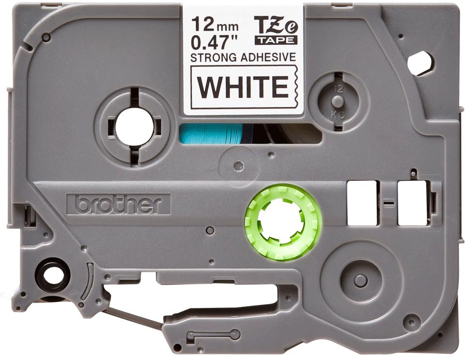 Original Brother TZeS231 tapekassette – sort på hvid, ekstra stærkt klæbende, 12 mm bred 2