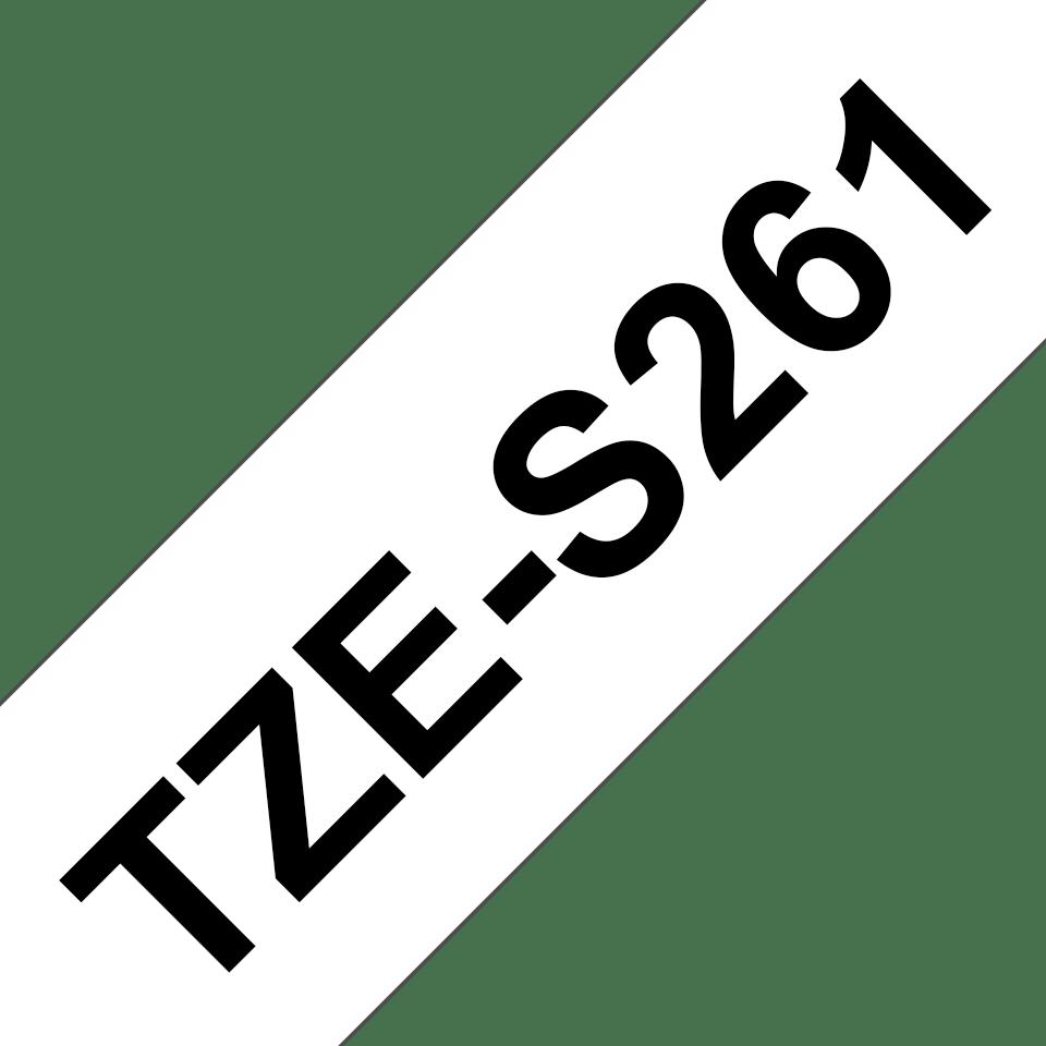 Original Brother TZeS261 tape – sort på hvid, 36 mm bred