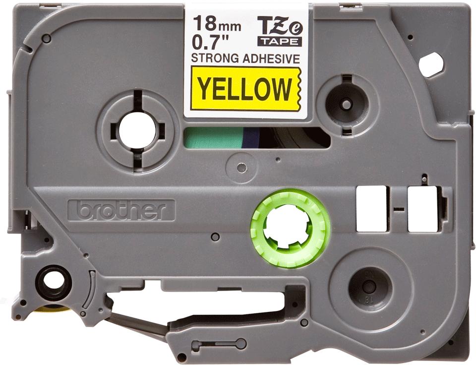 Original Brother TZeS641 tape – sort på gul, 18 mm bred