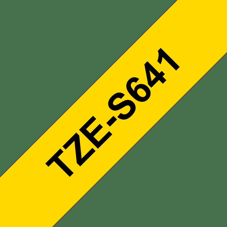 Original Brother TZeS641 tape – sort på gul, 18 mm bred 3