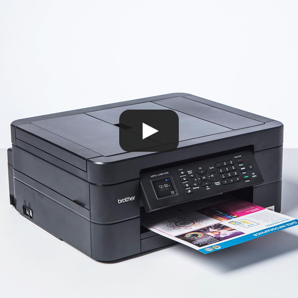 MFC-J491DW er en alt-i-én inkjetprinter med trådløst netkort 8
