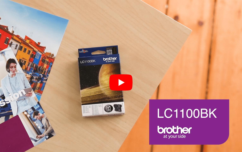 Original Brother LC1100BK sort blækpatron 6